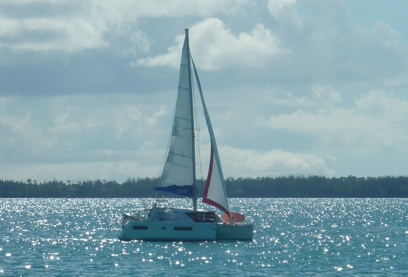 A Yacht Cruising the Sea of Abaco